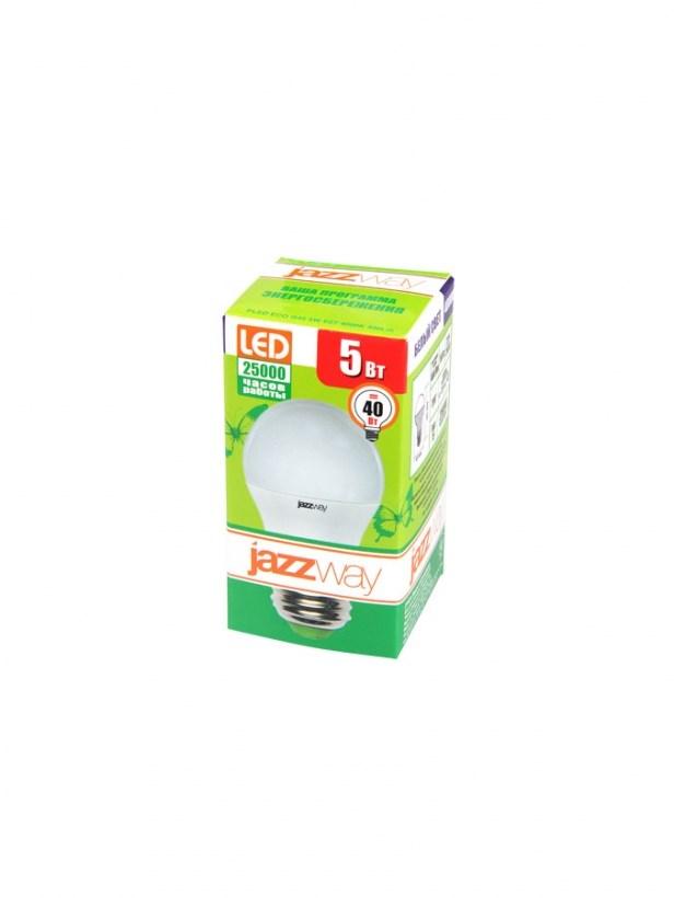 Лампа светодиодная шарик PLED-ECO-G45 5w Е27 3000K 220в Jazzway
