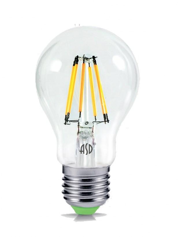 Лампа светодиодная LED-A60-deco 5W 230В Е27 3000К 450Lm прозрачная IN HOME