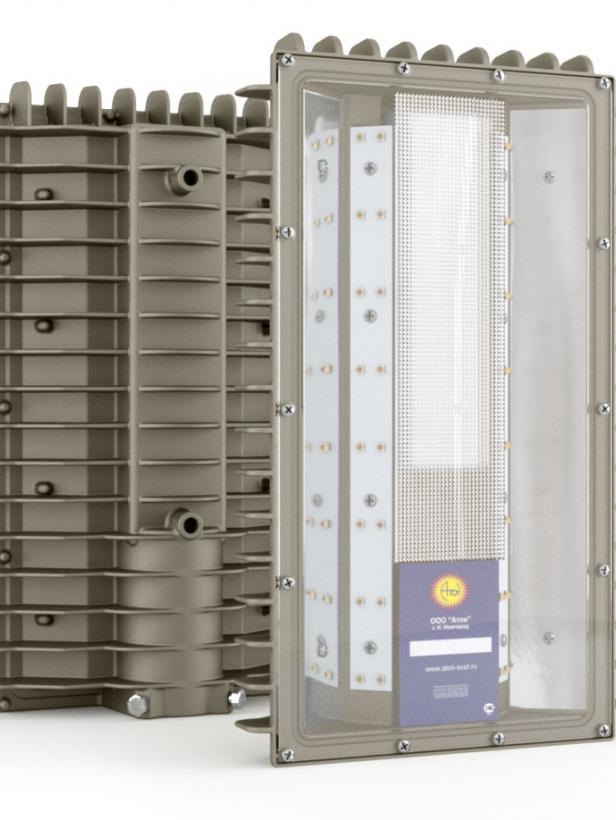 Светильник взрывозащищенный светодиодный АТ-ДКУ-11/50-220VAC-IP67 -EX серия Street (50Вт, белый (5000К), 6600Лм, IP67, 230В, КСС Д, крепление на консоль)