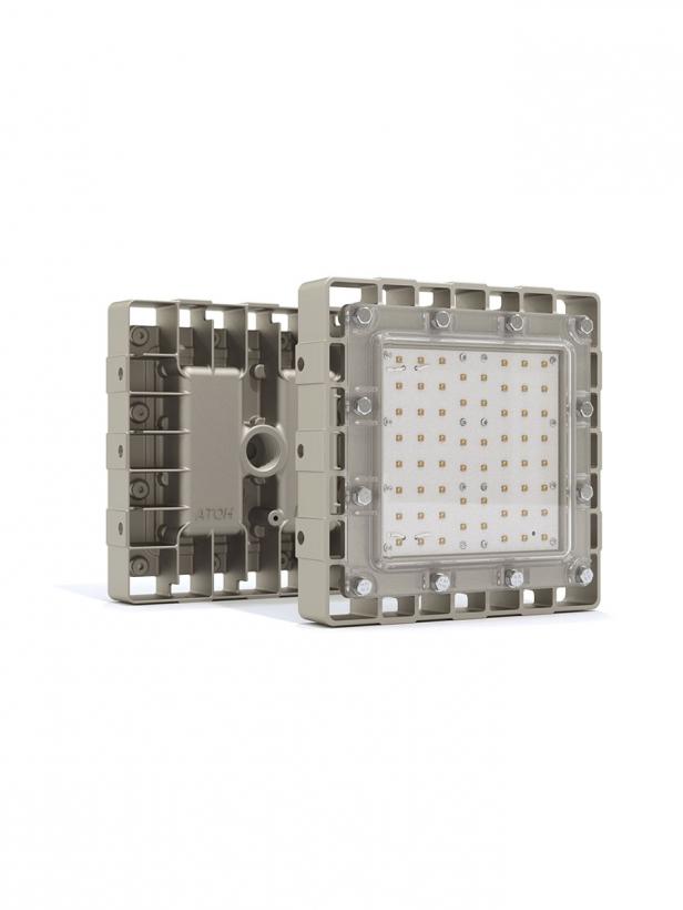 Светильник взрывозащищенный светодиодный АТ-ДСП-11/30-220VAC-IP67-EX серия Арсенал-М (30Вт, белый (4500-5000К), cos ϕ 0,55,  4600Лм, угол 1/2 яркости светодиода 120°, 220В, IP67, КСС Д, крепление на трубу 3/4')